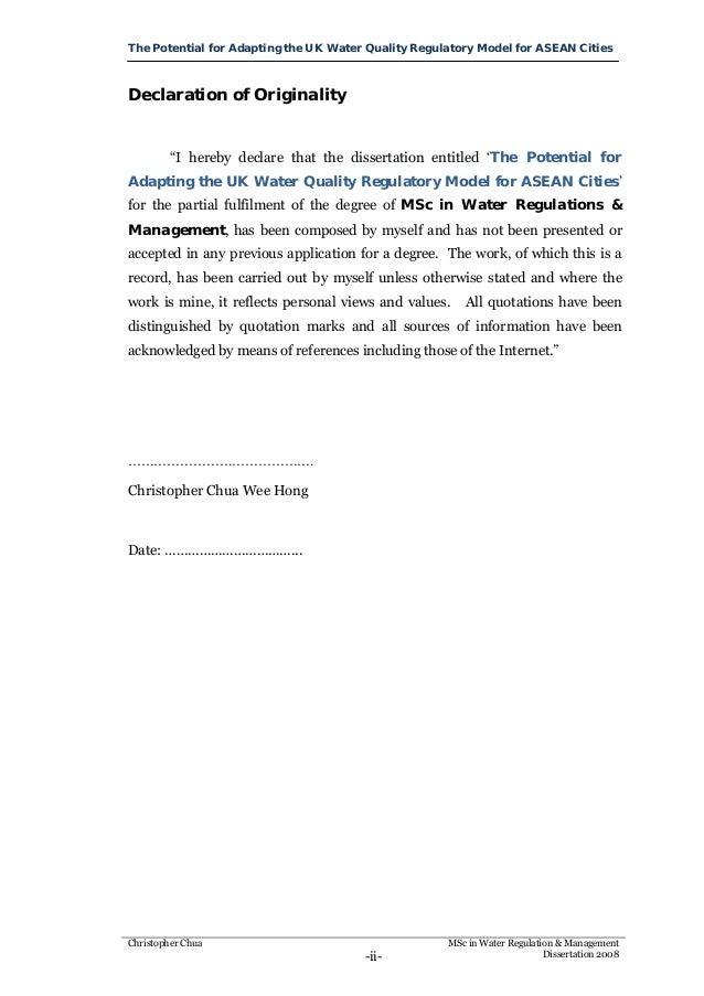 Msc dissertation uk