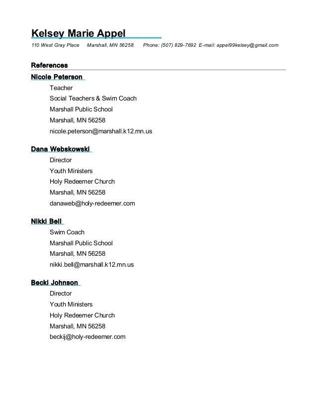 refernece sheet
