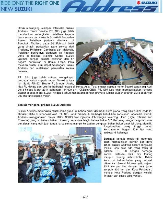 2018 suzuki address. exellent 2018 cambodia export suzuki address ke pasar global 13 intended 2018 suzuki address