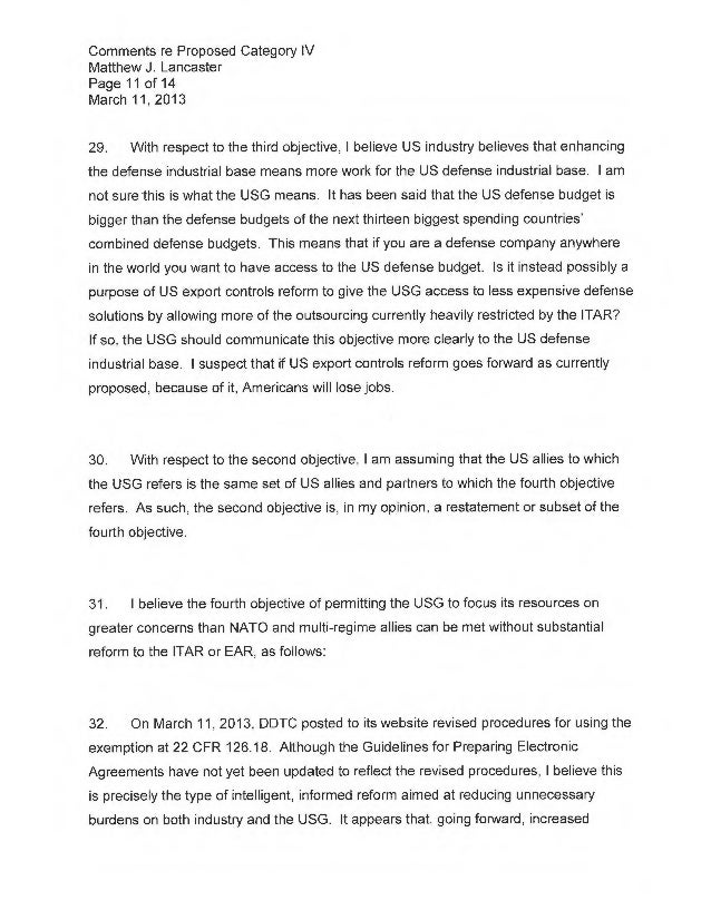 Comments Re Category Iv 11 March 2013 Final