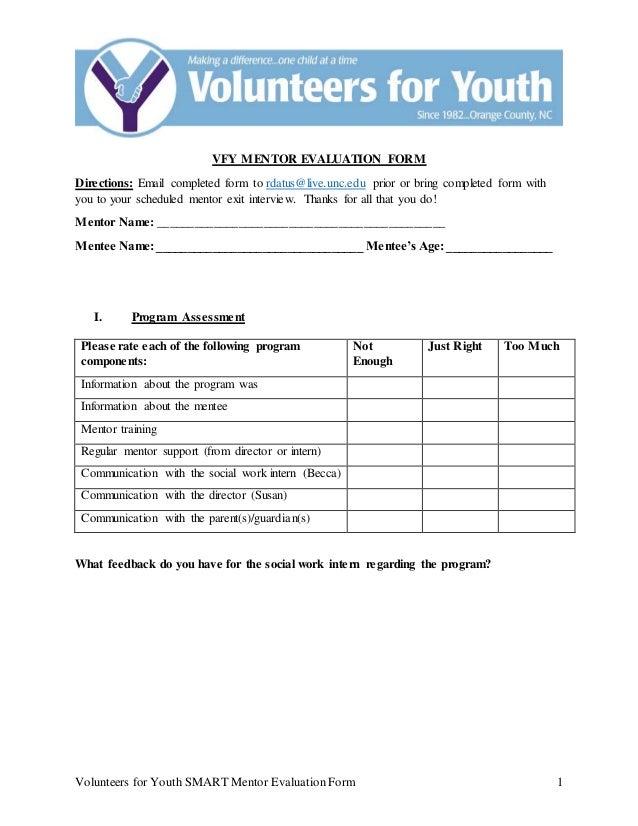 mentor evaluation form - Moren.impulsar.co