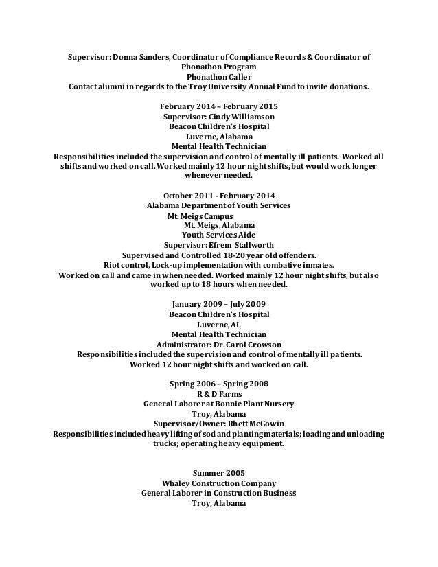 BENJAMIN COX JONES Resume 2015