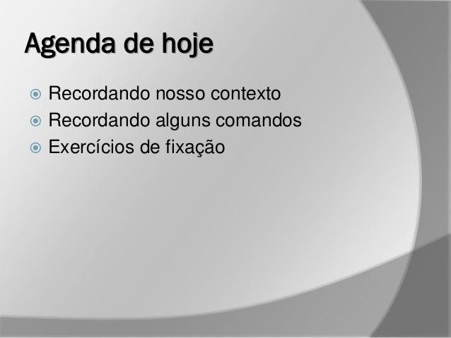 Banco de Dados II - Unimep/Pronatec - Aula 4 Slide 2