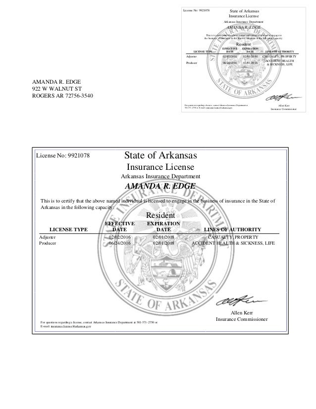 insurance license