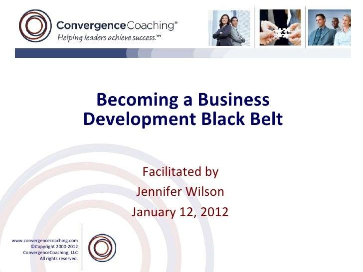 Becoming a Business                                  Development Black Belt                                         Facili...
