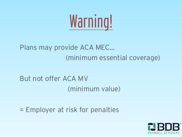 Wage parity compliance for Minimum essential coverage plan design