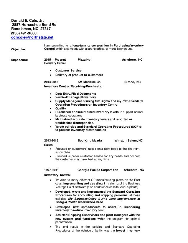 confiential resume