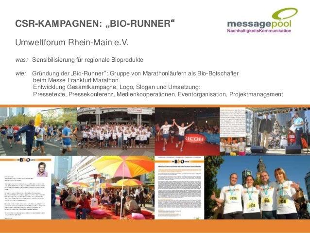 """Umweltforum Rhein-Main e.V. was: Sensibilisierung für regionale Bioprodukte wie: Gründung der """"Bio-Runner"""": Gruppe von Mar..."""