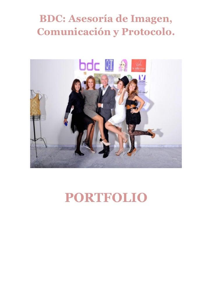 BDC: Asesoría de Imagen,Comunicación y Protocolo.     PORTFOLIO