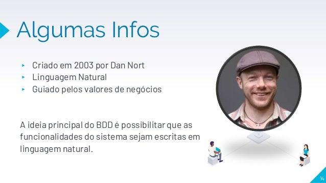 Algumas Infos ▸ Criado em 2003 por Dan Nort ▸ Linguagem Natural ▸ Guiado pelos valores de negócios A ideia principal do BD...
