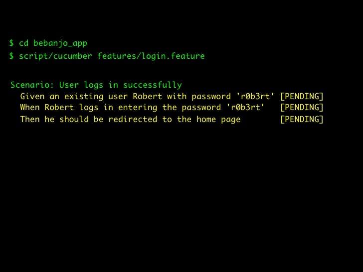$ script/generate model User username:string password:string  $ rake db:migrate && rake db:test:prepare