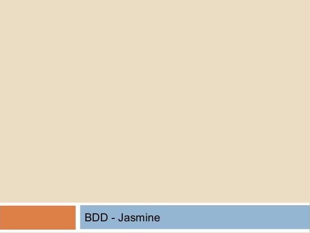 BDD - Jasmine