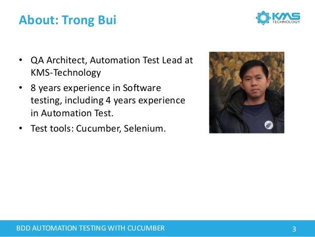 Behavior-Driven Development and Automation Testing Using Cucumber Framework Webinar Slide 3
