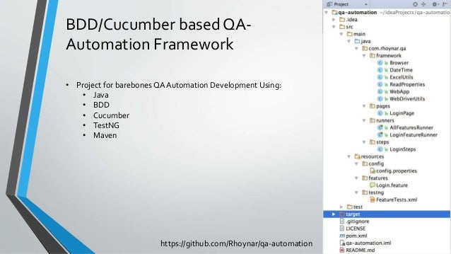 Test Automation Framework with BDD and Cucumber
