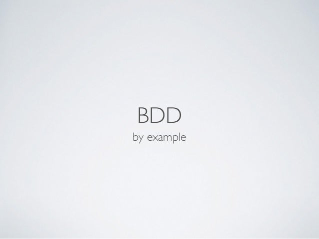 BDD by example
