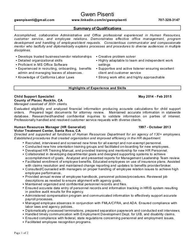 gwen resume 2015 HR