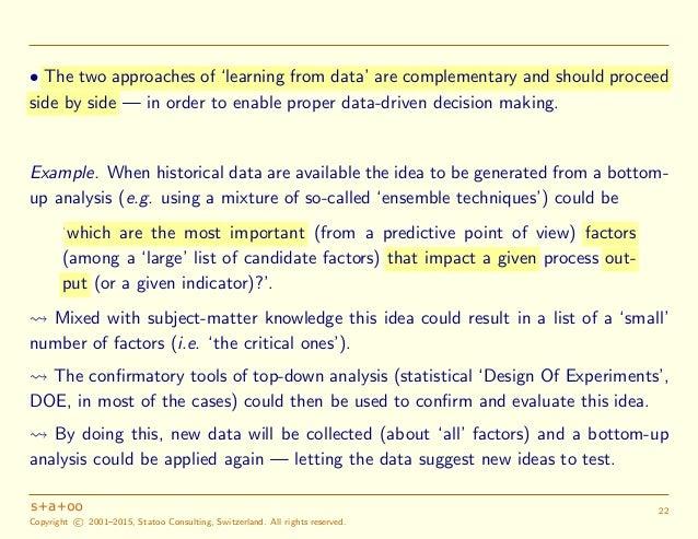 Big Data Data Driven Decision Making And Statistics Towards Data Inf