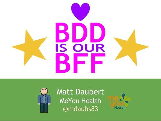 Matt Daubert MeYou Health @mdaubs83