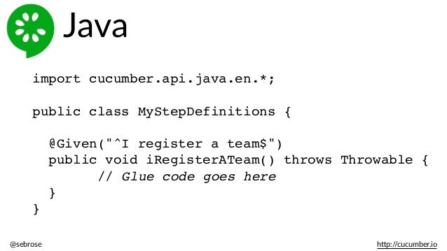 Introduction to BDD with Cucumber for Java