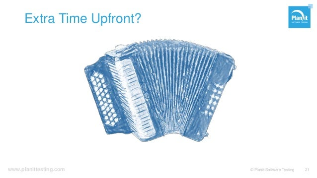 www.planittesting.com Extra Time Upfront? © Planit Software Testing 21
