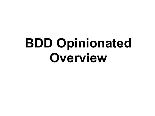 Lessons learned with Bdd: a tutorial