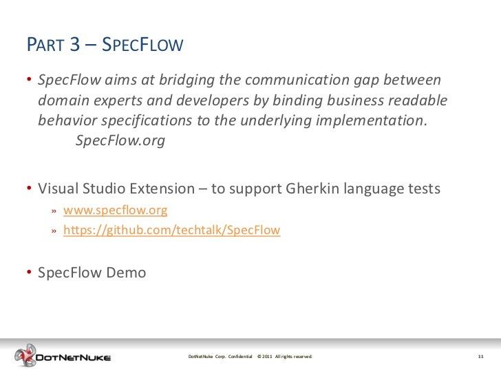Bdd with Visual Studio 2010, Spec Flow and WatiN