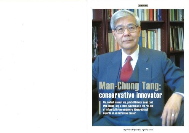 Dr. Man-Chung Tang: Conservative Innovator