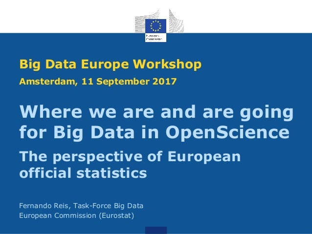 Where we are and are going for Big Data in OpenScience The perspective of European official statistics Fernando Reis, Task...