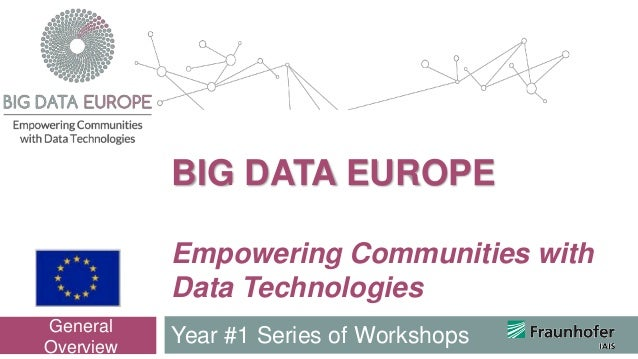 Empowering Communities with Data Technologies Year #1 Series of Workshops General Overview BIG DATA EUROPE