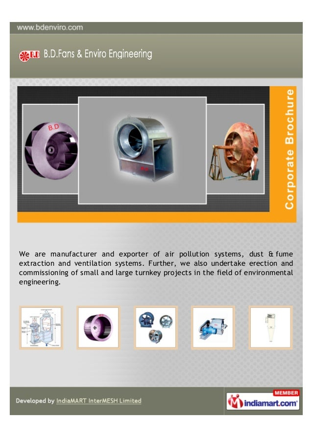 We are manufacturer and exporter of air pollution systems, dust & fumeextraction and ventilation systems. Further, we also...