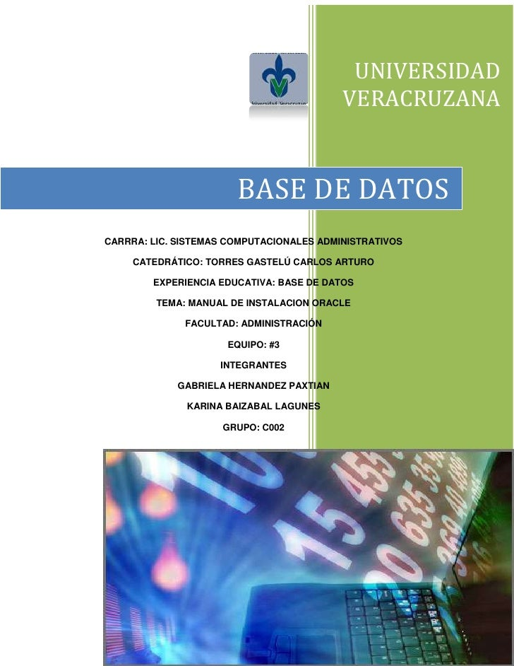 UNIVERSIDAD VERACRUZANA2871470-100330BASE DE DATOS6686555560060CARRRA: LIC. SISTEMAS COMPUTACIONALES ADMINISTRATIVOSCATEDR...