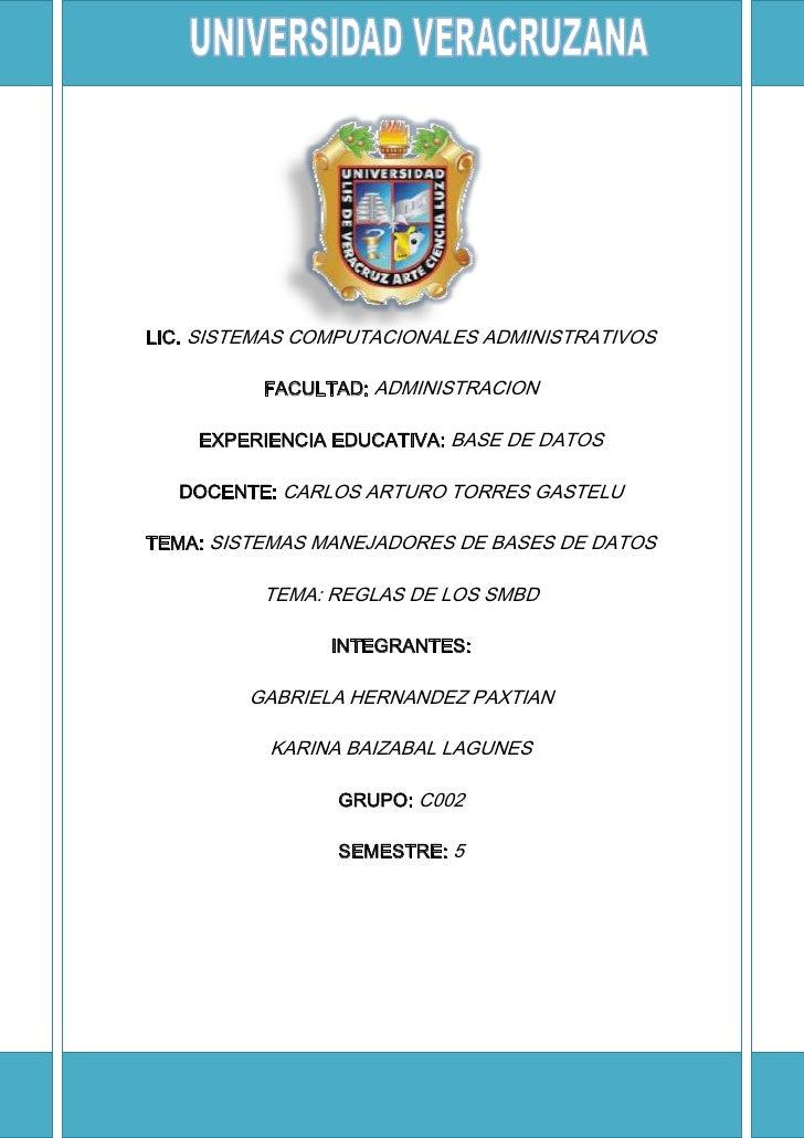 1859280244475LIC. SISTEMAS COMPUTACIONALES ADMINISTRATIVOSFACULTAD: ADMINISTRACIONEXPERIENCIA EDUCATIVA: BASE DE DATOSDOCE...