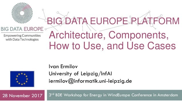 BIG DATA EUROPE PLATFORM 3rd BDE Workshop for Energy in WindEurope Conference in Amsterdam28 November 2017 Architecture, C...