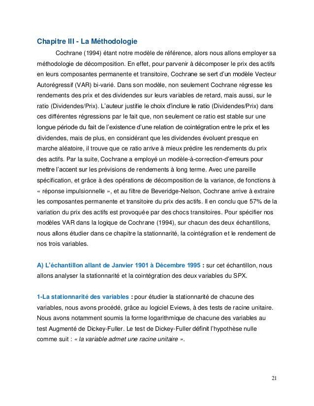 21 Chapitre III - La Méthodologie Cochrane (1994) étant notre modèle de référence, alors nous allons employer sa méthodolo...