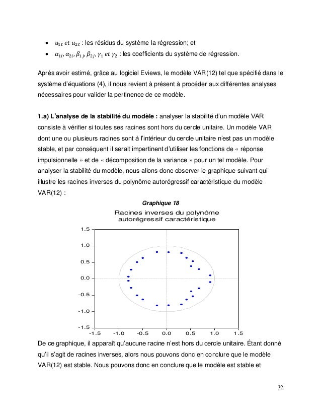 32  𝑢1𝑡 𝑒𝑡 𝑢2𝑡 : les résidus du système la régression; et  𝛼1𝑖, 𝛼2𝑖, 𝛽1𝑗, 𝛽2𝑗, 𝛾1 𝑒𝑡 𝛾2 : les coefficients du système de...