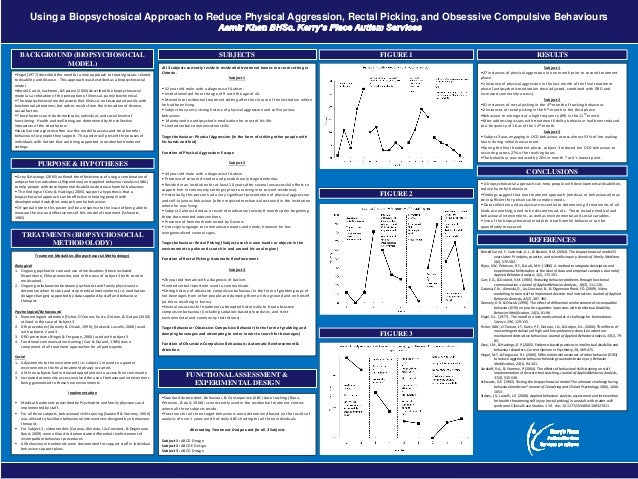 printed by www.postersession.com Using a Biopsychosical Approach to Reduce Physical Aggression, Rectal Picking, and Obsess...