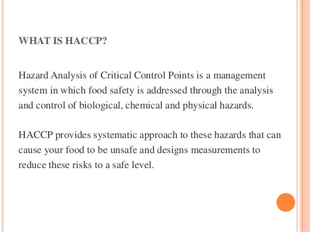 Bd Food Safety Consultants Haccp Certification Sqf