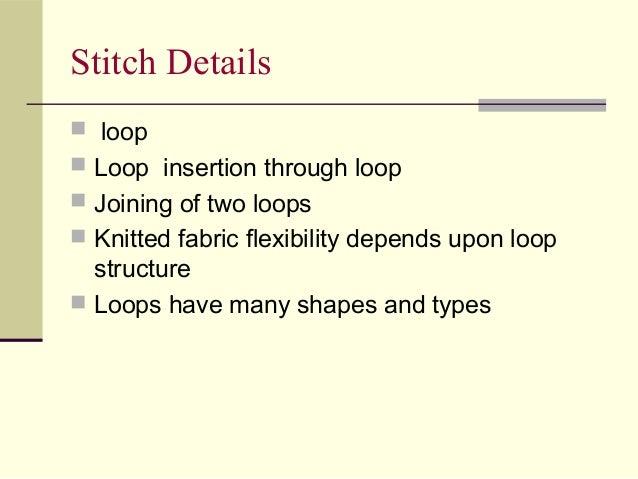 Knitting Loop Structure : Bdft ii types of knitting machine tmt unit