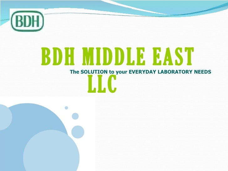 BDH Middle East corporate presentation
