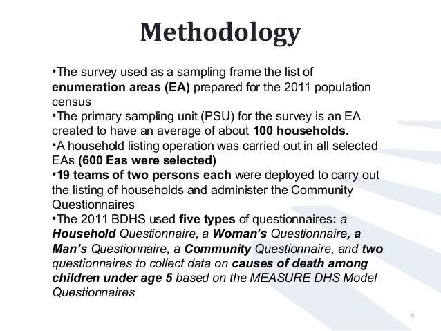 survey methodology and sampling frame used