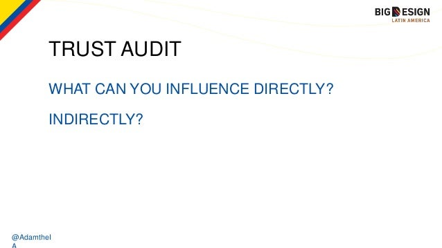 @AdamtheI TRUST AUDIT WHAT CAN YOU INFLUENCE DIRECTLY? INDIRECTLY?