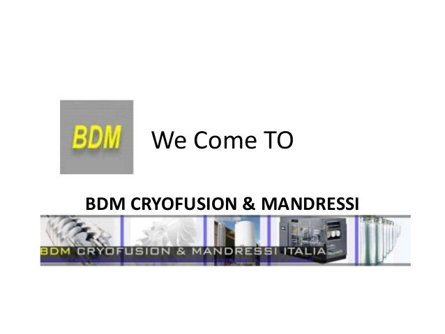 We Come TOBDM CRYOFUSION & MANDRESSI          ITALIA