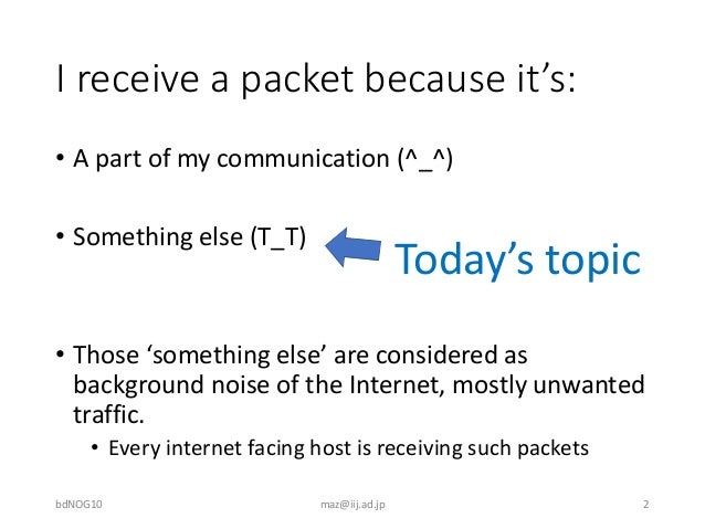 Background noise of the Internet Slide 2