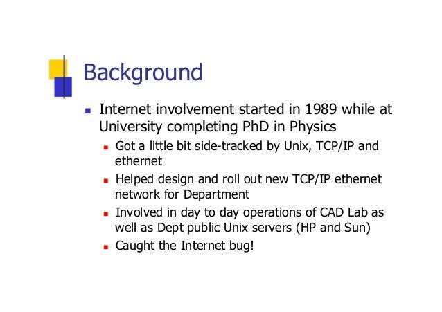 Internet Development Experiences and Lessons  Slide 2