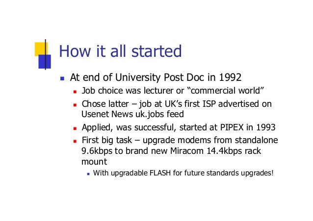 Internet Development Experiences and Lessons  Slide 3