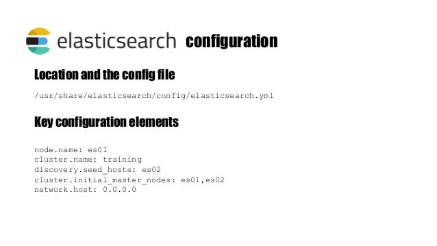 """[root@4f8cd6658b1b elasticsearch]# curl http://localhost:9200 { """"name"""" : """"es01"""", """"cluster_name"""" : """"training"""", """"cluster_uui..."""