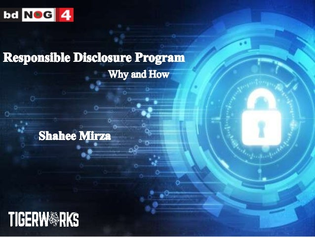 Responsible Disclosure Program: Why and How