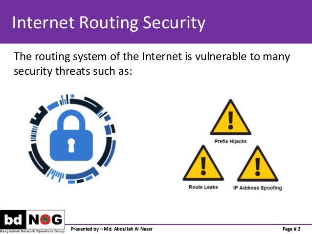 Preventing Traffic with Spoofed Source IP address Slide 2