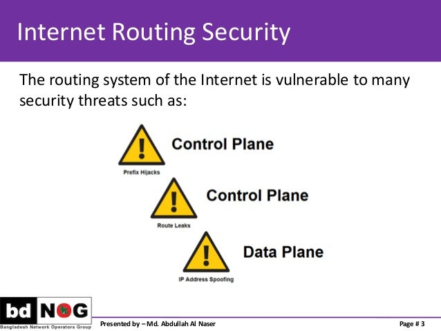 Preventing Traffic with Spoofed Source IP address Slide 3