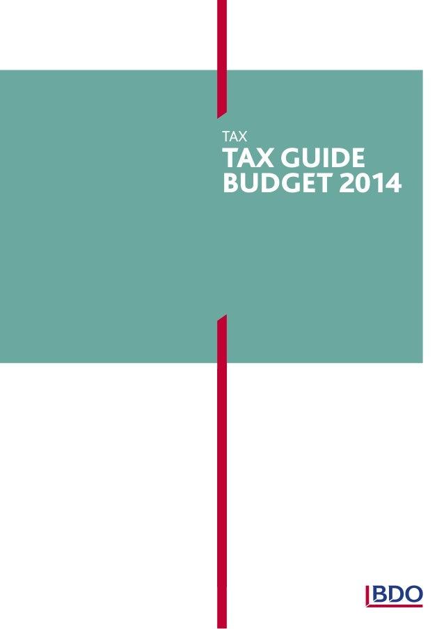tax  Tax Guide budget 2014